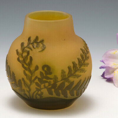 £648 • Buy A Small Galle Cameo Glass Vase C1910
