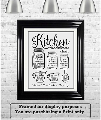 £3.99 • Buy Family Quotes Kitchen Cheats Weights Conversion/ Cooking Metric-tips Poster A4