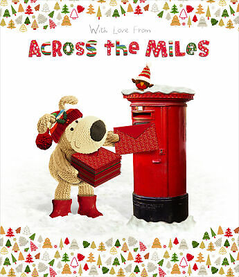 £3.79 • Buy Boofle Across The Miles Christmas Greeting Card Foiled Xmas Cards