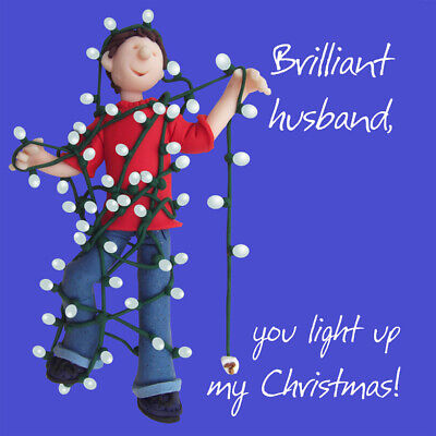Husband, Light Up My Christmas Greeting Card One Lump Or Two Holy Mackerel Cards • 3.29£