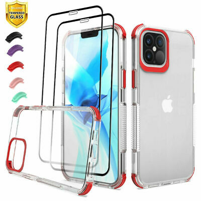 AU18.93 • Buy For IPhone 12/12 Pro/12 Mini/12 Pro Max Heavy Duty Case Cover+Screen Protector
