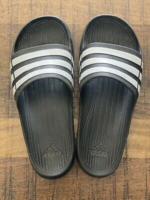 AU38.50 • Buy Adidas Slides Men's 10 Black White Like New