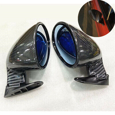 $58.40 • Buy 2x F1 Style Carbon Fiber Look Universal Racing Car Side Wing Rearview Mirrors