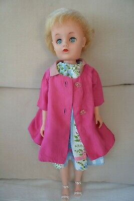 "Vintage 1960s 19"" Roddy Teen Doll With Lovely Home Made Outfit • 40£"