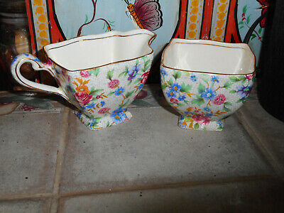$ CDN9.37 • Buy Royal Winton Old Cottage Chintz Square Sugar & Creamer