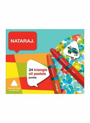 Jumbo Oil Pastels By Hindustan Pencil's Nataraj - Pack Of 24 (triangular) • 5.99£