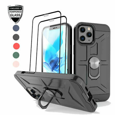 AU20.20 • Buy For IPhone 12/12 Mini/12 Pro/12 Pro Max Ring Holder Case Cover+Screen Protector