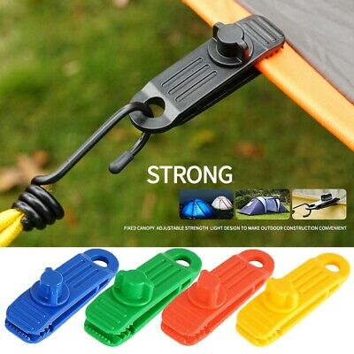 4Pcs Upgrade Rotatable Tent Awning Canopy Clamp Tarp Clip Canvas Gripper  • 2.86£