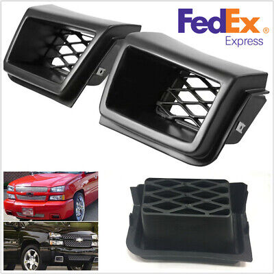 $40.87 • Buy For Chevy Silverado 1500 03-07 2PCS Air Vent Duct Front Bumper Grille Insert -US