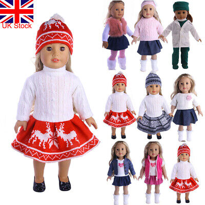 Outfit Dress Clothes For 18'' American Girl Our Generation My Life Doll UK STOCK • 8.29£