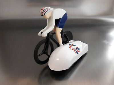£10 • Buy Micro Scalextric Car Team GB Olympic White Cyclist Bike Cycle Fully Working