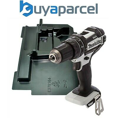 Makita DHP482ZW 18v LXT 2 Speed White DHP482Z Cordless Combi Drill Bare + Inlay • 48.99£