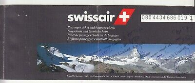 1996 Swiss Air Airlines Passenger Ticket And Baggage Check. • 7.23£