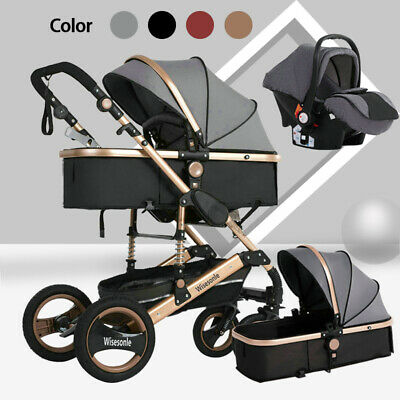 Travel System Foldable Car Seat Luxury Buggy 3 In 1 Baby Stroller Baby Carriage • 128.88£