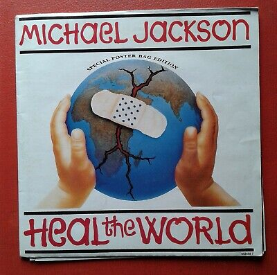 MICHAEL JACKSON,Heal The World,Special Poster Bag Edition UK 45 • 5£