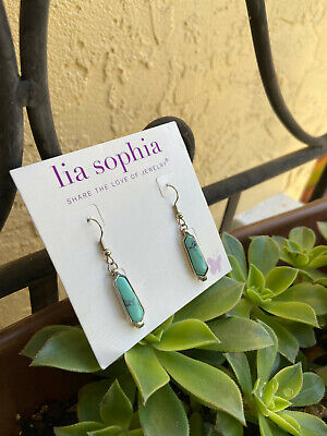 $ CDN31.14 • Buy Lia Sophia RICHES Earrings Genuine Howlite & Rhodium  FREE SHIPPING