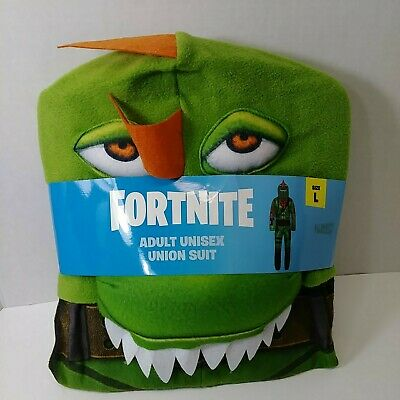 $ CDN40.20 • Buy Fortnite Union Suit Green REX Adult Unisex Hooded Dragon Costume L New Cosplay