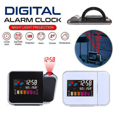 AU19.99 • Buy Smart Digital LED Projection Alarm Clock Temperature Time Projector LCD Display