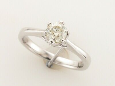 18ct White Gold Diamond Solitaire Ring Set With 0.50ct J Si1 Diamond • 695£