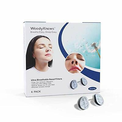 WoodyKnows Ultra-Breathable Nasal Filters (Narrow, S, 6 Pack) • 23.66£