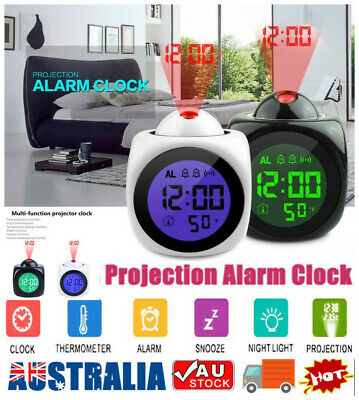 AU17.65 • Buy Smart Alarm Clock Digital LED Projection Time Temperature Projector LCD Display