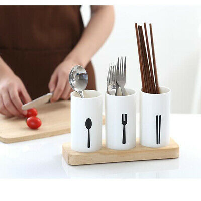 AU14.53 • Buy Plastic Utensil Cutlery Holder Caddy Organize Flatware Shiny