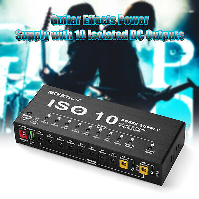 $ CDN90.96 • Buy ISO-10 Isolated Outputs Guitar Effect Pedal Board Power Supply 9V 12V 18V W4Y4