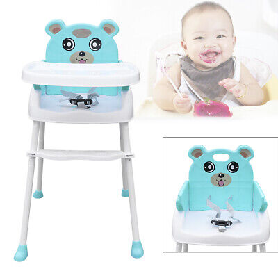 4 IN 1 Adjustable Height Baby High Chair Infant High Feeding Seat Toddler Table • 25.40£
