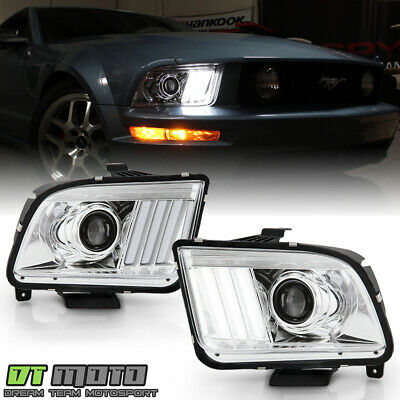 $265.99 • Buy [Upgrade Style] 2005-2008 Ford Mustang LED Tube Projector Headlights Headlamps