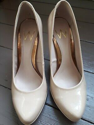 Ladies Wallis Nude Platform Heels Size 6 - Lovely Shoes With Slight Scratches • 2.95£