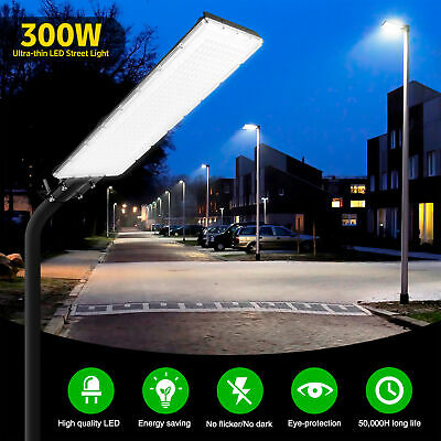 300W LED Street Light Security Outdoor Flood Light IP65 Wall Street Lamp • 33.69£