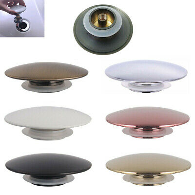 £8.89 • Buy Brass Sink Basin Waste Plug Top Cap Fitting Pop Up Click Clack Push Button 66mm