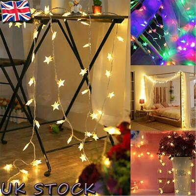 £4.53 • Buy Star Fairy Lights Home Lamps Party Christmas Decor Battery USB LED String Lights