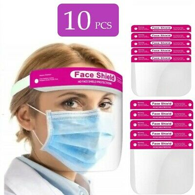 10 X Full Face Shield Pink Visor Protection Mask Shield Safety Clear PPE  • 6.99£