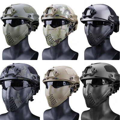 $20.52 • Buy Tactical Airsoft Mask Outdoor Military Camouflage Hunting Helmet Protective Mask