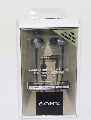 New Sony MDR-EX650AP In-Ear Earphones With Mic And Control BLACK / GOLD Colour • 29.99£