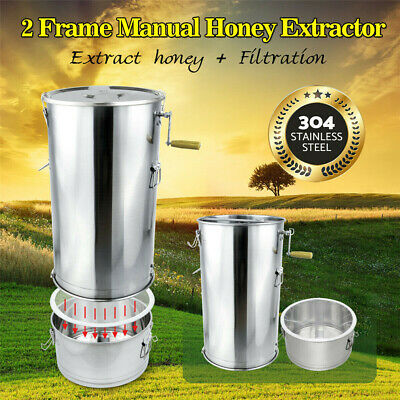 AU199.99 • Buy 2 Frame Beekeeping Equipment Manual Honeycomb Extract Honey Extractor Filtration