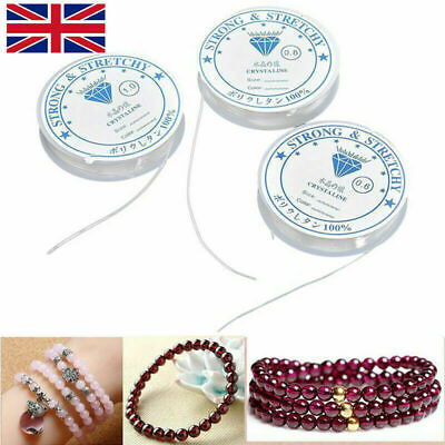 £2.89 • Buy 5-15M Elastic Stretchy Beading Thread Cord Bracelet String For Jewelry Making UK
