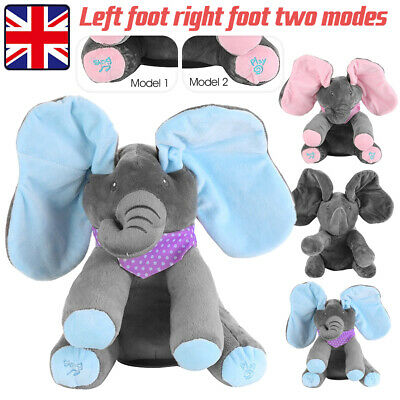 Peek A Boo Singing Elephant Toy Stuffed Music Doll Animated Kids Gift Baby Cute • 14.81£