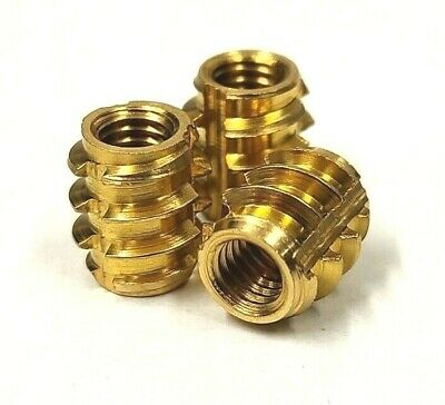Brass Self-tapping Threaded Inserts For Structural Foam Composite Wood Insert • 4.99£