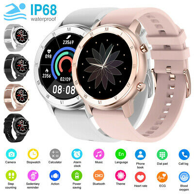 AU54.39 • Buy Waterproof Smart Watch Fitness Tracker Heart Rate Blood Pressure For IOS Android