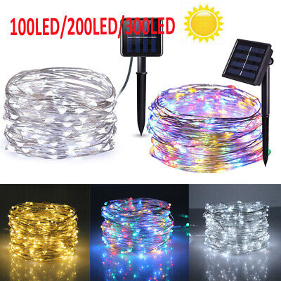 LED Solar String Lights Waterproof Copper Wire Fairy Christmas Garden Outdoor UK • 9.49£