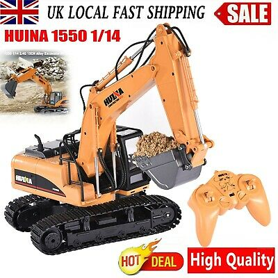£39.98 • Buy HUINA 1550 2.4G 1/14 15Channel Electronic Excavator Remote Control Truck RC Toy