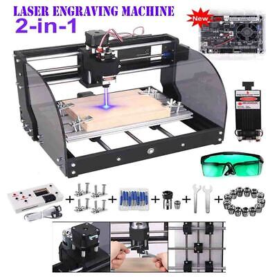 Laser Engraving Machine GRBL DIY 3 Axis PBC Milling Wood Router With Offline Kit • 239.71£