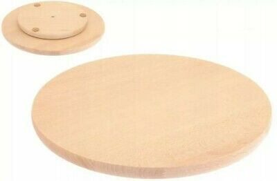 £14.99 • Buy Lazy Susan Rotating Wooden Pizza/snack Round Board Cake Decorating 35cm-13,5inch