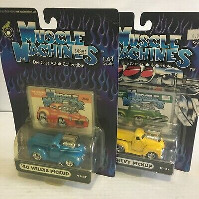 AU12.71 • Buy Muscle Machines 1/64 Scale '53 Chevy Pickup And '40 Willys Pickup