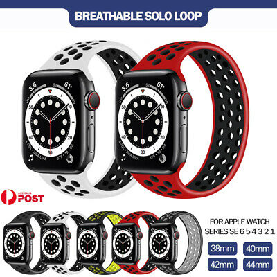 AU14.99 • Buy For Apple Watch Band Series SE 6 5 4 3 2 Sport Solo Loop Silicone Elastic Strap