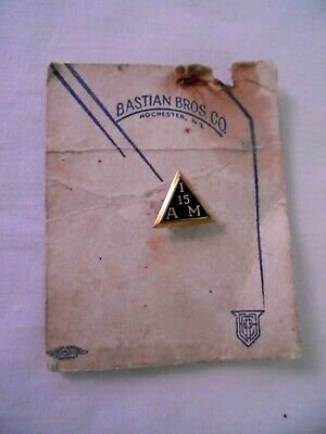 $5 • Buy Vintage IAM Machinists Union Gold Filled 15 Year Member Screwback Pin