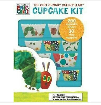 200 Cupcake Kit The Very Hungry Caterpillar By Eric Carl Cake Toppers Birthday  • 5.95£