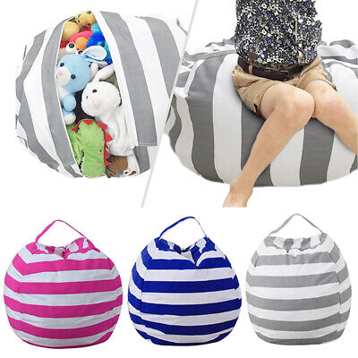 EXTRA LARGE Stuffed Animal Toy Storage Bean Bag Bean Cover Soft Seat M L • 6.99£